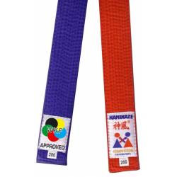 Pack red & blue competition belt, from Kamikaze, WKF
