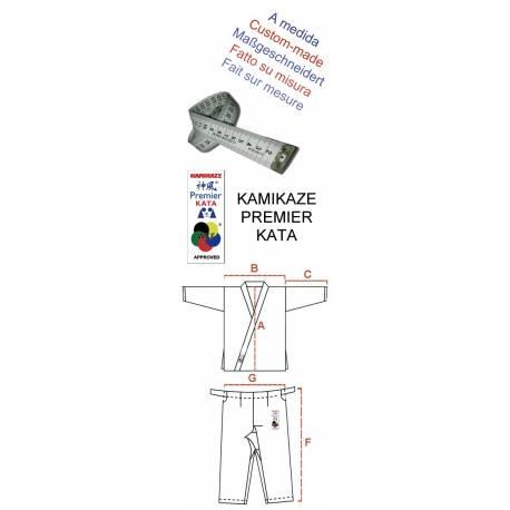 Kimono PREMIER-KATA WKF, Kamikaze - Fait sur-mesure