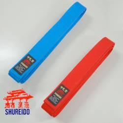 Pack Ceinture compétition kumite Rouge + Bleu Shureido