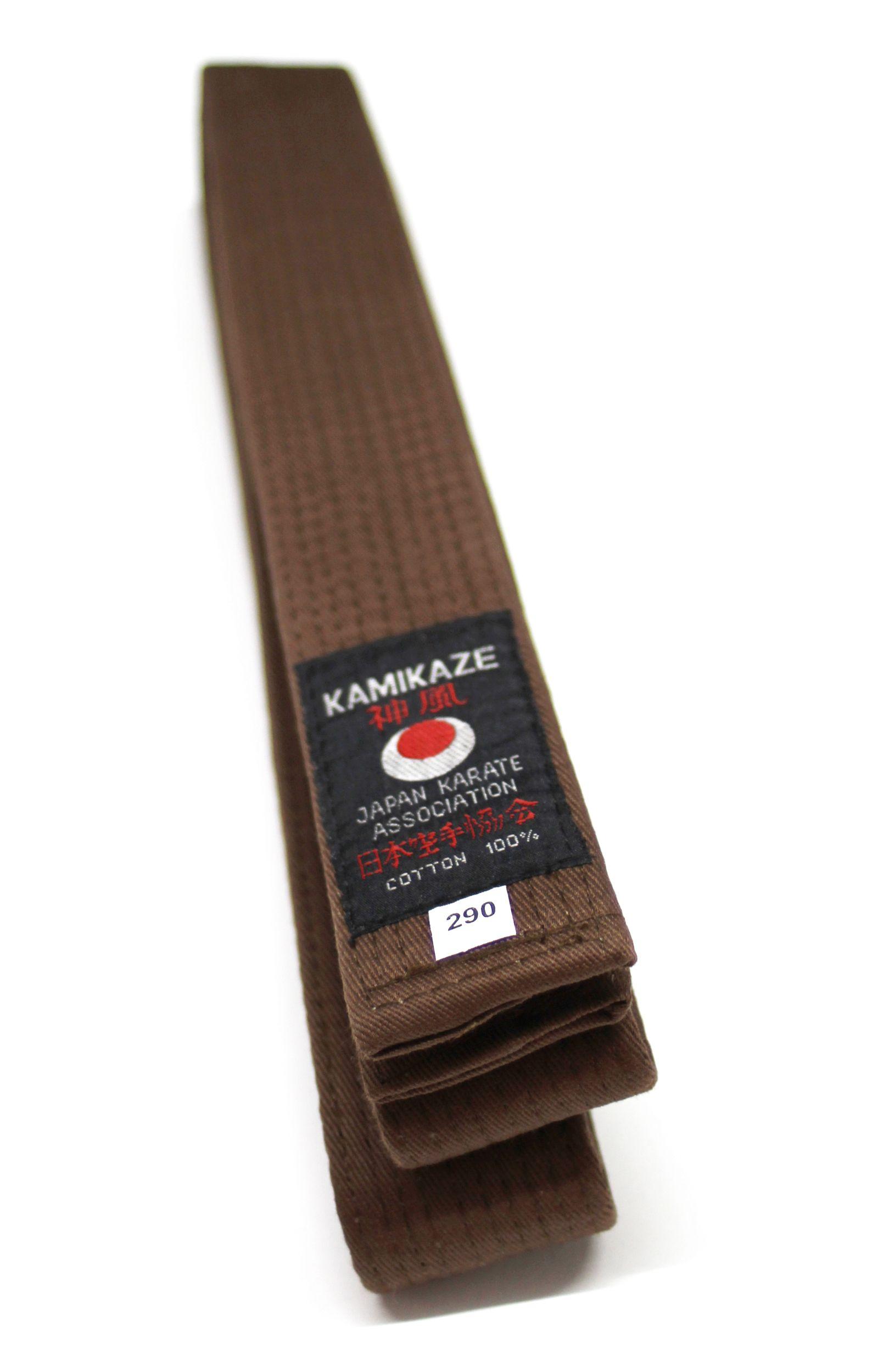 16996b97627 Ceinture KAMIKAZE marron coton de première qualité - Premierdan.com Shop  online Karate Kobudo