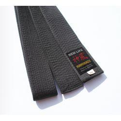 Ceinture Noire KAMIKAZE coton qualité Premium EXTRA GROSSE