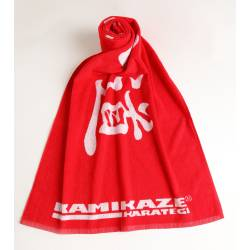 BATH TOWEL KARATE-DÔ from KAMIKAZE, red