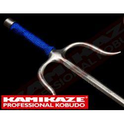 SAI KAMIKAZE PROFESSIONAL KOBUDO, acier inoxydable, octogonal, poignée corde couleur bleue , vendu par paire