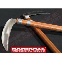 KAMA KAMIKAZE PROFESSIONAL KOBUDO, en chêne, avec lames en acier inoxydable, la paire