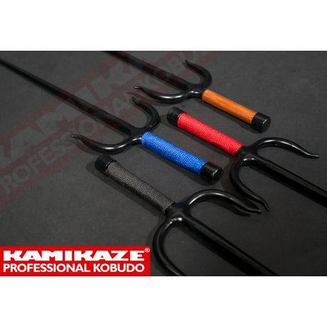 SAI KAMIKAZE PROFESSIONAL KOBUDO, solid wrought iron, octagonal, string grip, pair