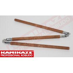 SANSETSUKON KAMIKAZE PROFESSIONAL KOBUDO, chaîne en métal, fait main en UE, bois de chêne