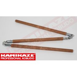 SANSETSUKON KAMIKAZE PROFESSIONAL KOBUDO, with metal chain, hand-made, oak hard wood