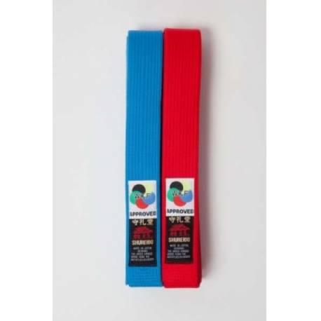 Pack Ceinture EXTRA KATA compétition Rouge + Bleu Shureido