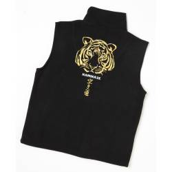 Kamikaze Fleece Vest black special edition embroidered KARATE-DÔ TIGER S