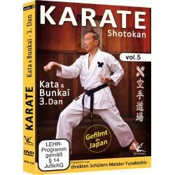 DVD Karate Shotokan, Kata & Bunkai pour 3ème Dan, par les disciples de Funakoshi , Vol.5