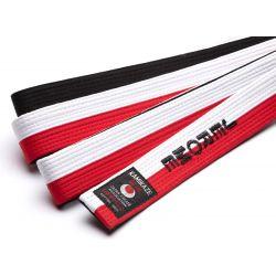 Cintura speciale RENSHI rossa, bianca e nera Kamikaze