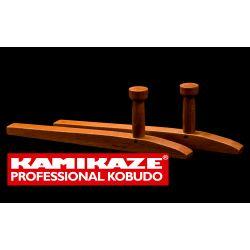 TONFA KAMIKAZE PROFESSIONAL KOBUDO chêne fait à la main, carré, la paire