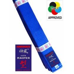 Cinturón Kamikaze modelo Kata Master - WKF color azul