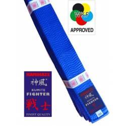 Cinturón Kamikaze modelo Kumite Fighter - WKF color azul
