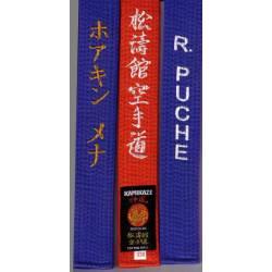 Cinturón Kamikaze rojo o azul bordado