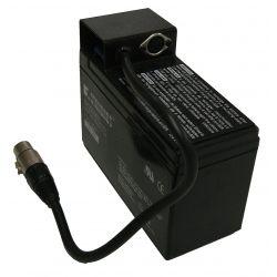 BATERIA RECARREGÁVEL 12V / 7Ah para placar eletrônico, com conectores.