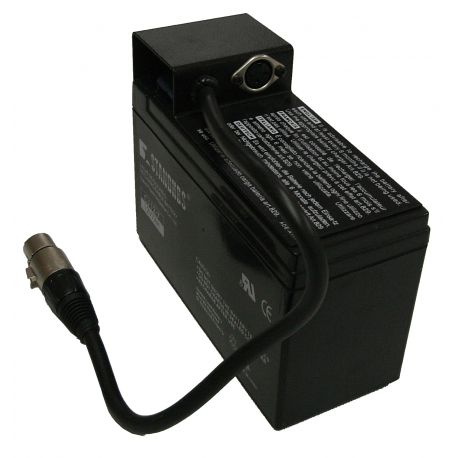 RECHARGEABLE BATTERY 12V/7Ah with connectors