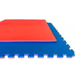 Tatami BASIC, puzle 100 x 100 x 2 cm, ROJO-AZUL, reversible