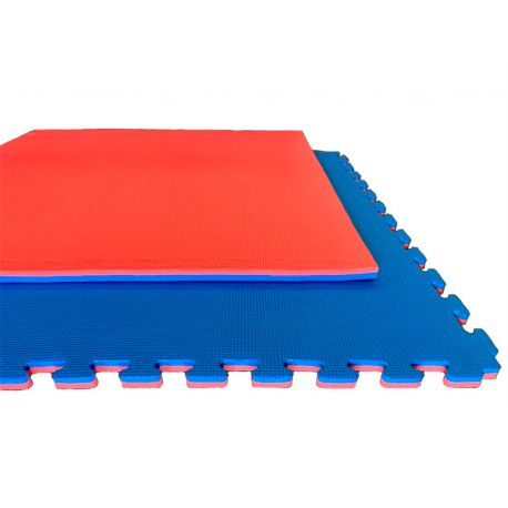 Tatami BASIC, Jigsaw puzzle mat 100 x 100 x 2 cm, RED-BLUE reversible
