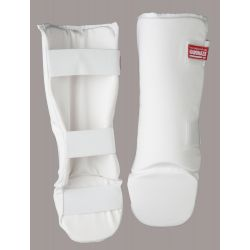 Shin- and foot protector, KAMIKAZE, white