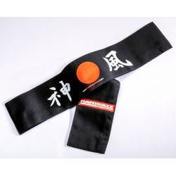 Hachimaki (Japanese Forehead band) Kamikaze - Rising Sun, BLACK, 7 x 110 cm