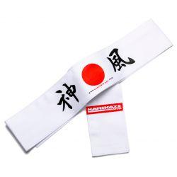 Hachimaki (Cinta japonesa para la frente) Kamikaze - Sol naciente, BLANCA, 7 x 110 cm