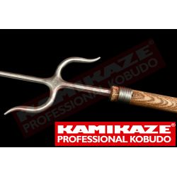 NUNTI BO KAMIKAZE PROFESSIONAL KOBUDO, oak, hand made with stainless steel Manji Sai