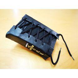 Almofada de perfuração Makiwara KAMIKAZE PROFESSIONAL, couro, preto