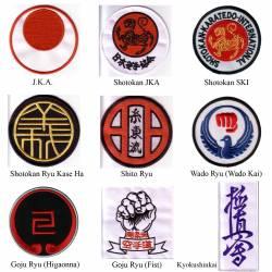 Gestickter Aufnäher Ihrer Karatestilrichtung