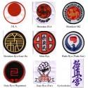 Scudo Ricamato Stile Karate: