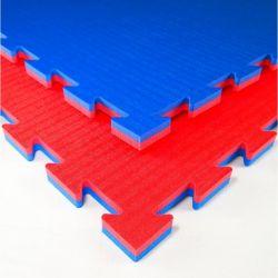 Tatami special Karate, type puzzle 100 x 100 x 2 cm, ROUGE-BLEU, réversible