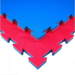 Tatami BEGINNER per uso non professional, puzzle, 100 x 100 x 2 cm, ROSSO-BLU, reversibile