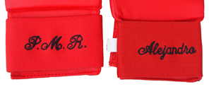 Embroidery on fist protectors