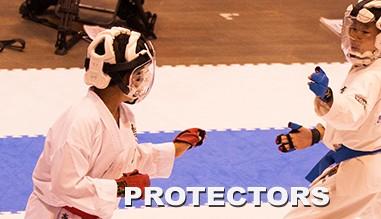 Kamikaze and Shureido karate protectors